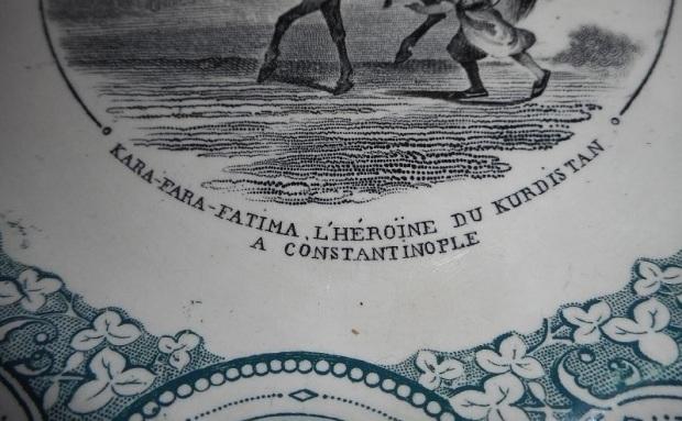 ASSIETTE KARAFARA FATIMA HEROINE DU KURDISTAN A CONSTANTINOPLE VIELLARD BORDEAUX1